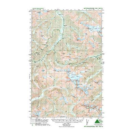 photo: Green Trails Maps Mount Challenger Washington us pacific states paper map