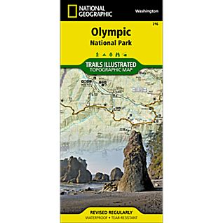 photo: National Geographic Olympic National Park Map us pacific states paper map