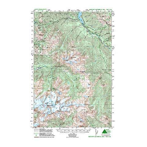 Green Trails Maps Mount Olympus Washington Map