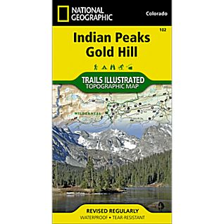 photo: National Geographic Indian Peaks/Gold Hill Map us mountain states paper map