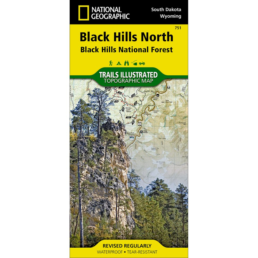 National Geographic Black Hills Northeast Trail Map