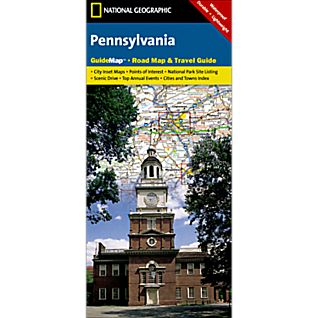 National Geographic Pennsylvania Map