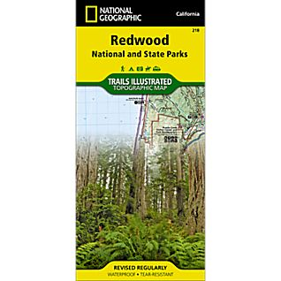 National Geographic Redwood National Park Map