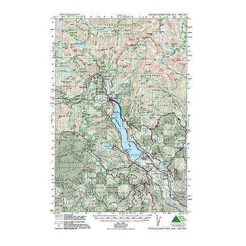 Green Trails Maps Snoqualmie Pass Washington Map