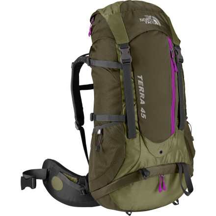 photo: The North Face Women's Terra 45 overnight pack (2,000 - 2,999 cu in)