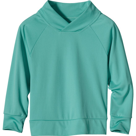 photo: Patagonia Girls' Baby Long-Sleeve Sun-Lite Top hiking shirt
