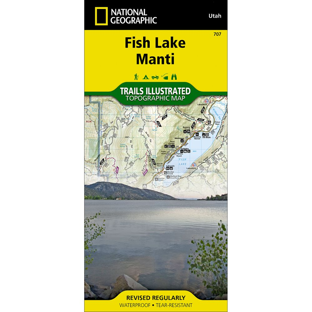 photo: National Geographic Central Capitol Reef/Fish Lake North Trail Map  us mountain states paper map