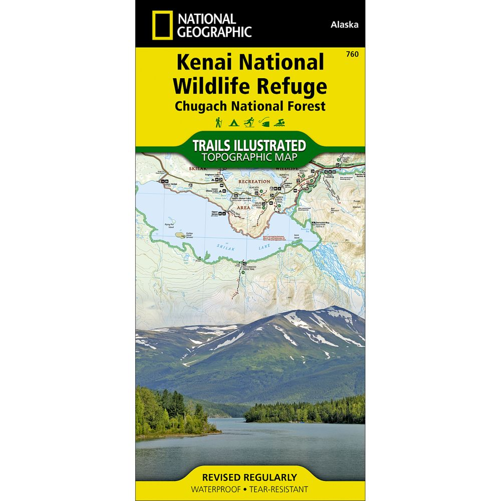 National Geographic Kenai National Wildlife Refuge Map - Chugach National Forest