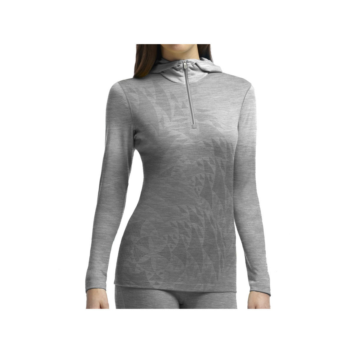 photo: Icebreaker Women's Oasis Long Sleeve Half Zip Hood base layer top