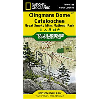 National Geographic Clingmans Dome/Cataloochee Map - Great Smoky Mountains National Park