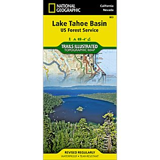 photo: National Geographic Lake Tahoe Basin Map us pacific states paper map