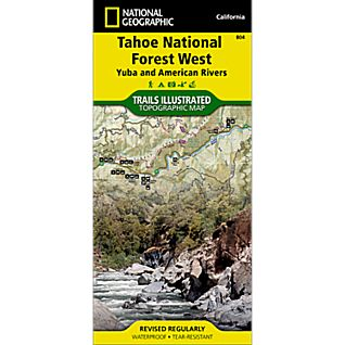 National Geographic Tahoe National Forest - Yuba and American Rivers Map
