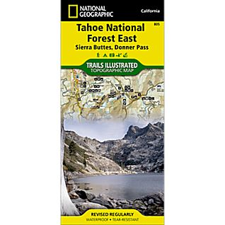 photo: National Geographic Tahoe National Forest - Sierra Buttes/Donner Pass Map us pacific states paper map