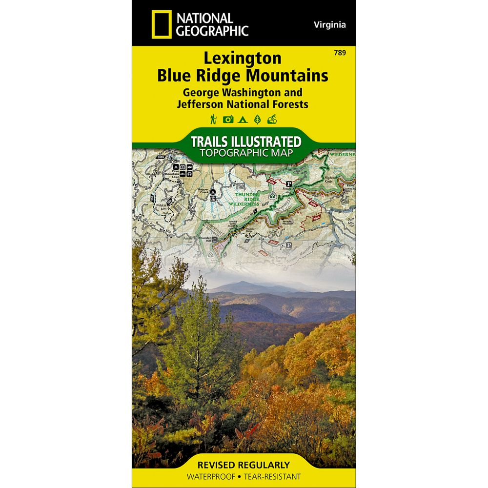 National Geographic Lexington/Blue Ridge Mountains Map