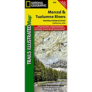 National Geographic Merced & Tuolumne Rivers Map - Stanislaus National Forest