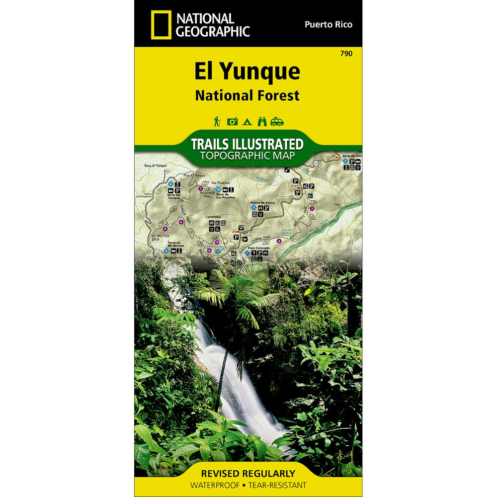 National Geographic Caribbean National Forest Map