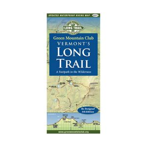 photo: Green Mountain Club Vermont's Long Trail Map us northeast paper map