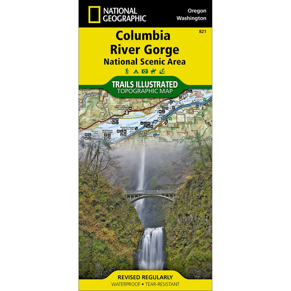 National Geographic Columbia River Gorge Map