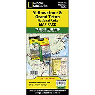 National Geographic Yellowstone/Grand Teton National Park Map Pack