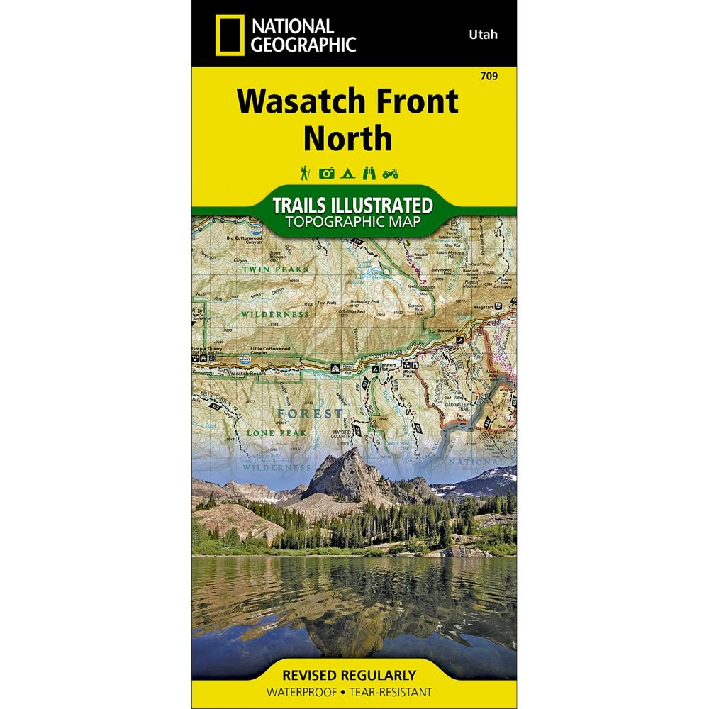 National Geographic Wasatch Front/Strawberry Valley Trail Map