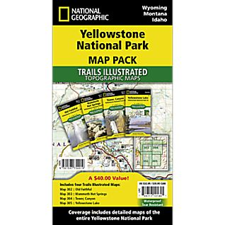 National Geographic Yellowstone National Park Map Pack