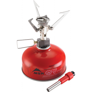 photo: MSR MicroRocket compressed fuel canister stove