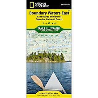 photo: National Geographic Boundary Waters East - Superior National Forest Map us midwest paper map