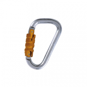 Fixe Faders Safety Steel Rescue Triple Action Autolocking Carabiner, 30kN