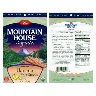 Mountain House Organic Banana Fruit Snacks