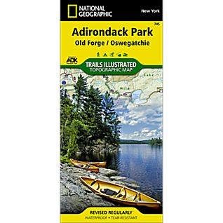 National Geographic Old Forge/Oswegatchie Trail Map - Adirondack National Park