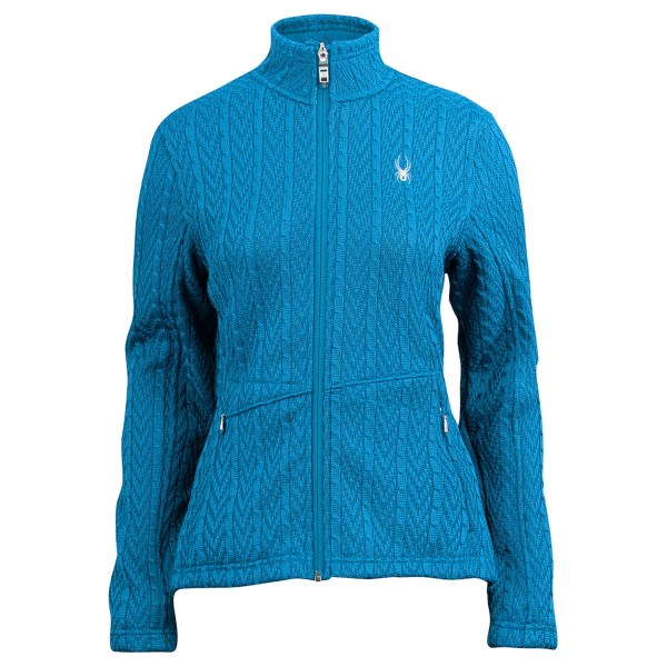 photo: Spyder Full Zip Cable Knit fleece jacket