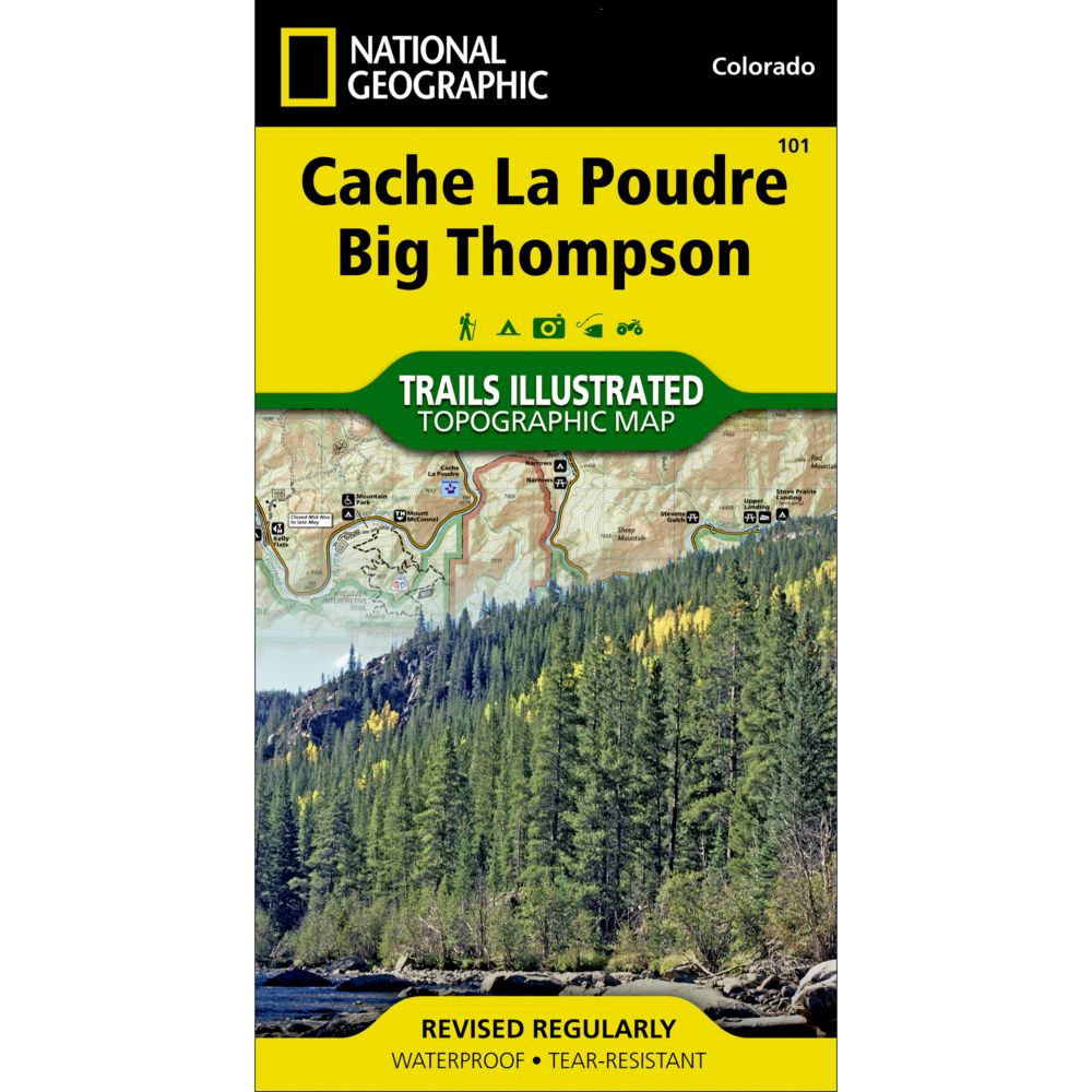 photo: National Geographic Cache La Poudre/Big Thompson Trail Map us mountain states paper map