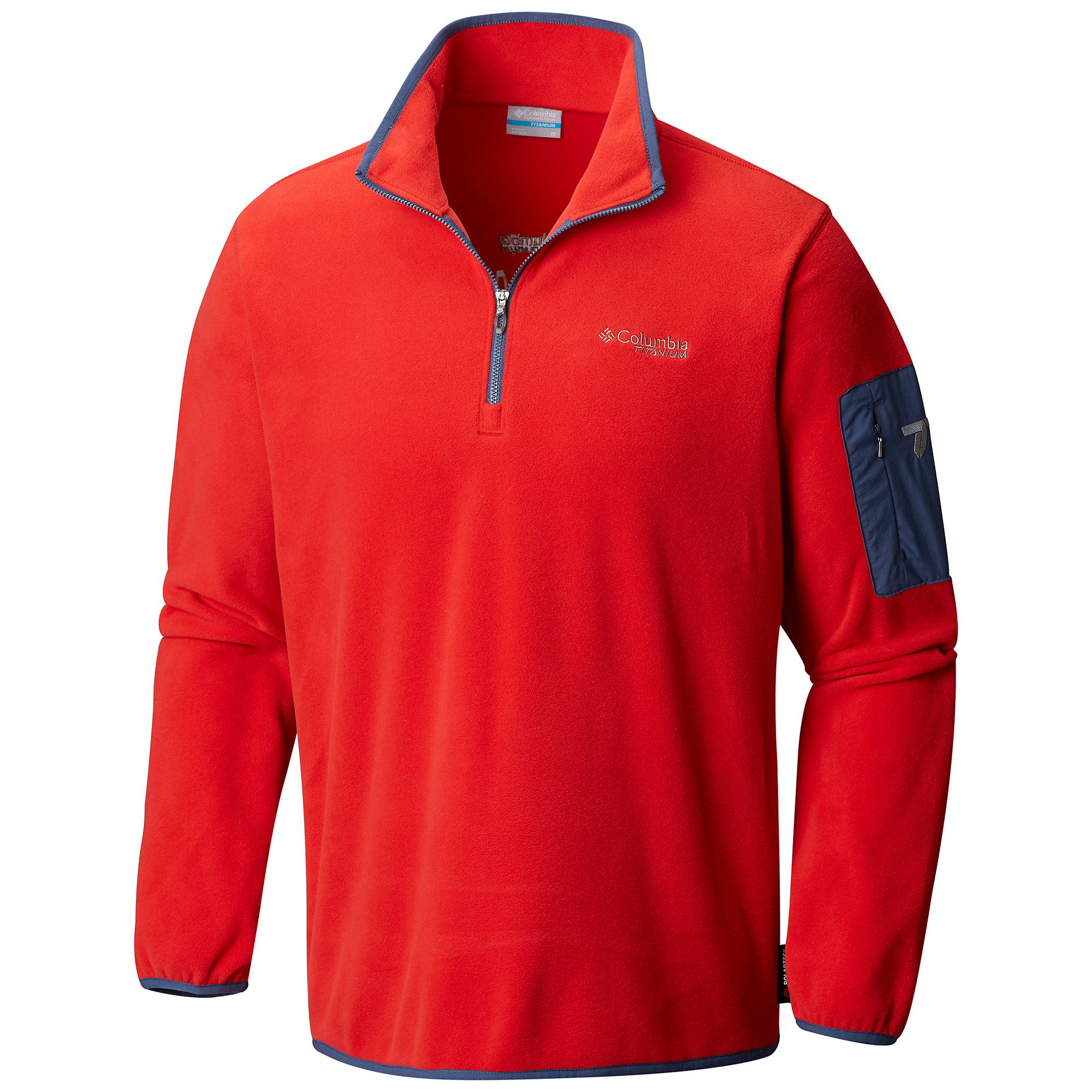 photo: Columbia Men's Titan Pass 1.0 Half Zip fleece top