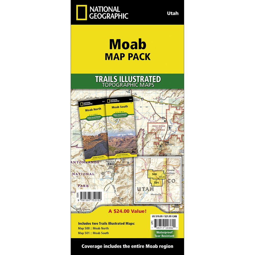 National Geographic Moab Map Pack