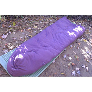 photo of a Lucky Sheep 3-season (0° to 32°f) sleeping bag