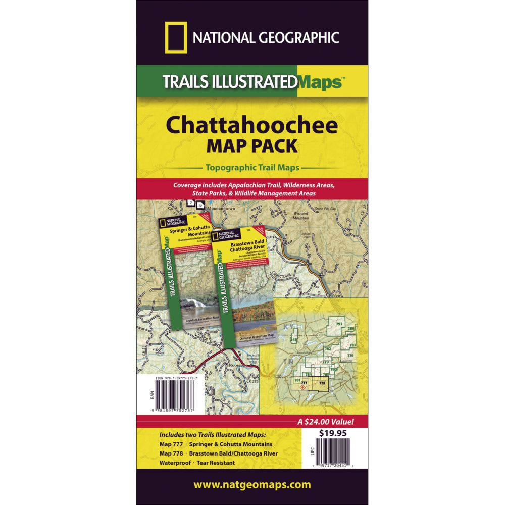 photo: National Geographic Chattahoochee Map Pack us south paper map