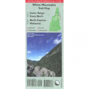 Appalachian Mountain Club White Mountain Trail Map: Carter Range-Evans Notch and North Country-Mahoosuc