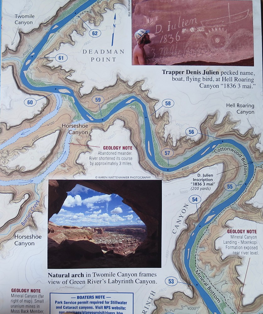 photo: Westwater Books Belknap's Waterproof Canyonlands River Guide us mountain states guidebook