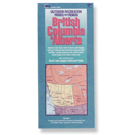 Canadian Cartographics British Columbia and Alberta Map
