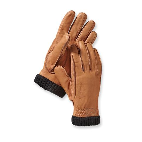 photo: Hestra Deerskin PrimaLoft Ribbed Gloves insulated glove/mitten
