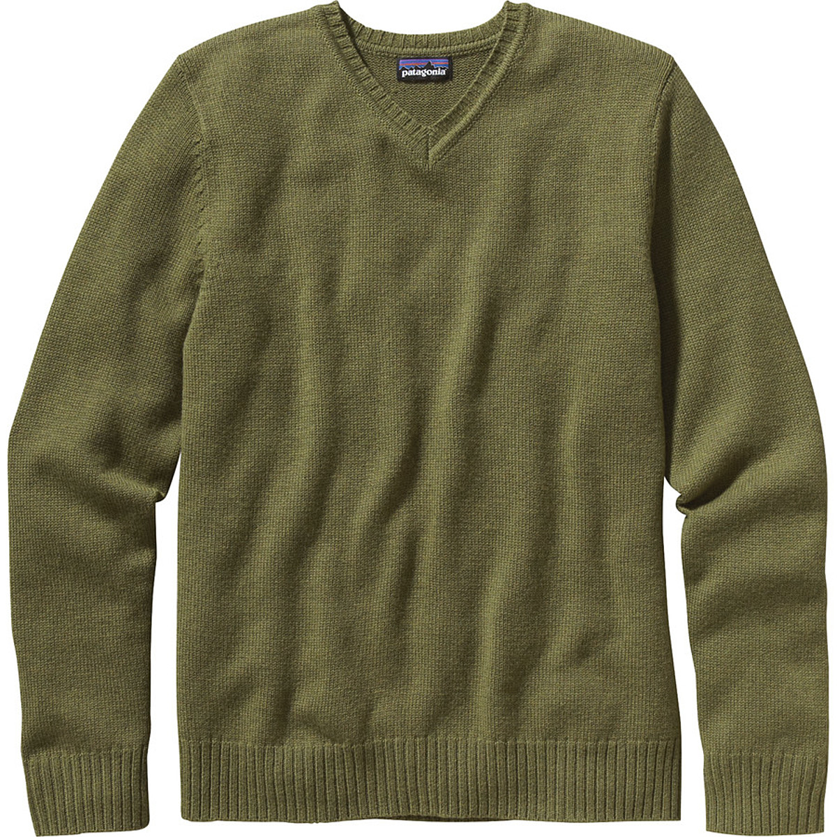 photo: Patagonia Lambswool V-Neck long sleeve performance top