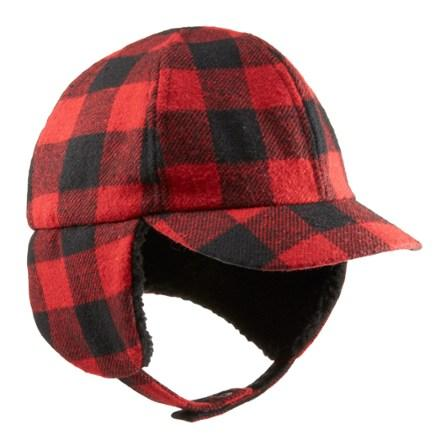 REI Buffalo Plaid Tie-Up Hat