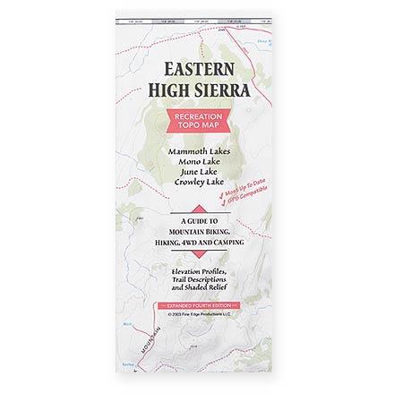 Fine Edge Eastern High Sierra Recreation Topo Map