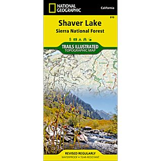 National Geographic Shaver Lake Map