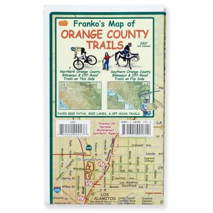Franko's Maps Franko's Map of Orange County Trails