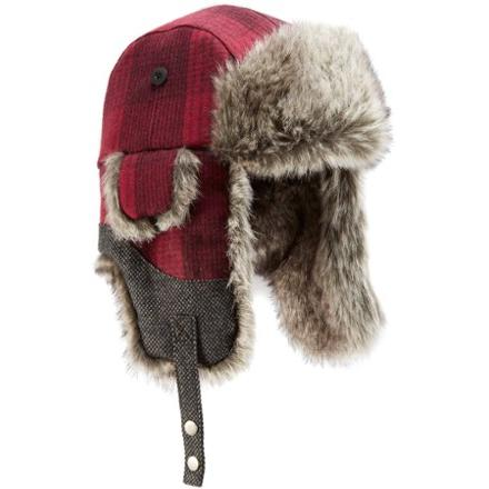REI Plaid Aviator Hat