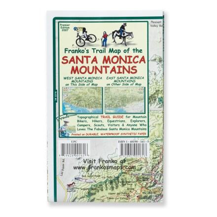 Franko's Maps Franko's Trail Map of the Santa Monica Mountains
