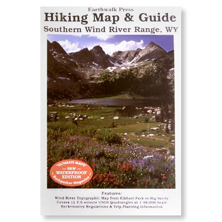 photo: Earthwalk Press South Wind River Range Hiking Map and Guide us mountain states paper map