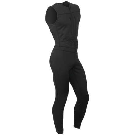 photo: Outdoor Research Radiant Hybrid Suit one-piece base layer
