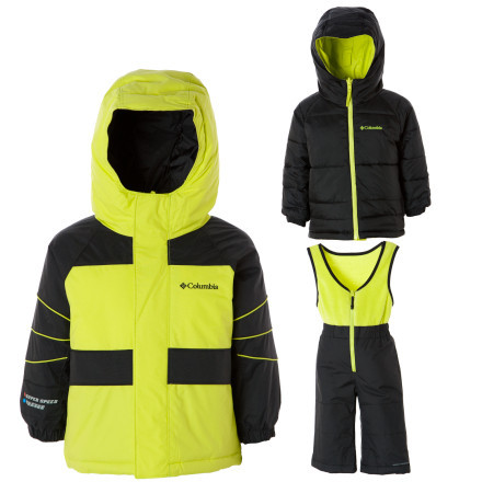 photo: Columbia Kids' Zoing Reversible Set kids' snowsuit/bunting